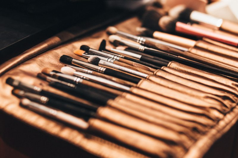 A large collection of Makeup Brushes