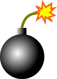 A cartoon image of a bomb