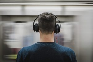 A man wearing headphones - a Christmas Gifts for HIM that YOU will LOVE
