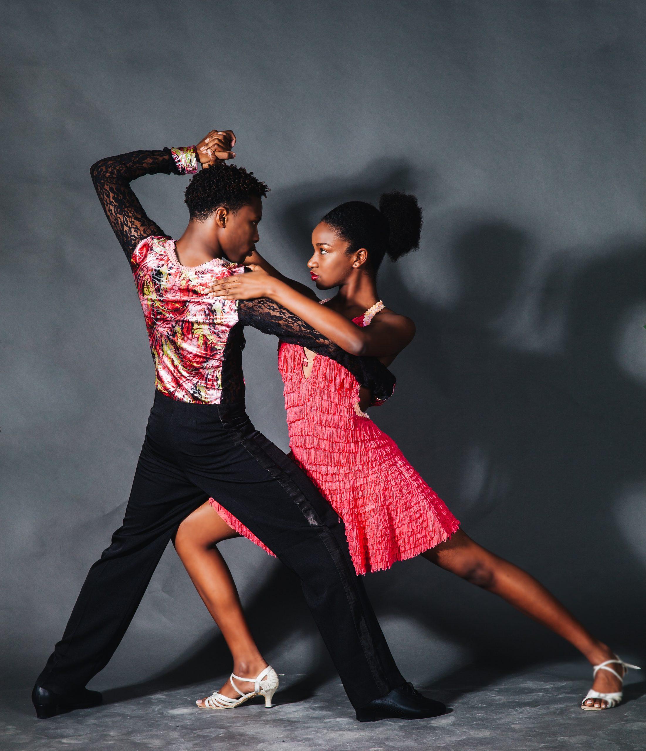 A couple dancing tango