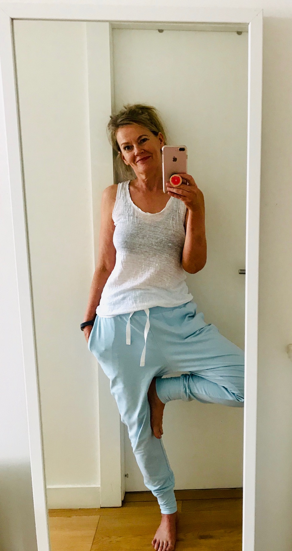 Woman wearing yoga pants